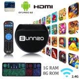 Het androïde Vakje van TV met Draadloos Toetsenbord Sunnzo L9 PRO met van Amlogic S905X 1GB Ram/8gb- ROM Kodi 17.3 Vastgesteld Hoogste Vakje