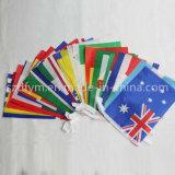 Amerikaanse Vlag 100% Bunting van het Land van de Stof van de Polyester de Vlaggen van het Koord