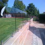 Valla de jardín exterior vástago de acero inoxidable barandilla de vidrio