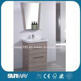 Fußboden 2018, der Belüftung-Beschichtung-Badezimmer-Möbel Sw-MP1603 steht