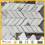 Parafuso sextavado/Basketweave/Espinha de peixe/Piso Padrão Francês/parede mosaicos de mármore branco