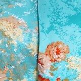 4PCS dirigem o jogo barato ajustado impresso flor da folha de base do algodão do fundamento de matéria têxtil