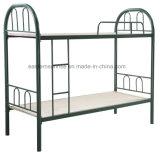 二重鋼鉄二段ベッドの家具の学校の寮の金属のベッド
