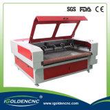 Machine de découpage automatique de laser de tissu de 1610 têtes duelles