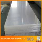 Hoja de acrílico transparente 8m m, hoja plástica transparente de acrílico