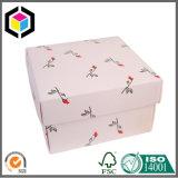 4つの側面の折り返しの折り畳み式ボール箱のペーパー宝石類の荷箱