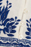2017 projetos novos Crochet-Apararam o algodão branco vestidos bordados das mulheres