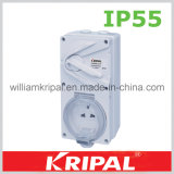 IP55 13A 3pin Weatherproof Switched Socket