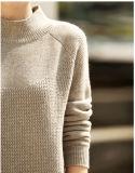女性のカシミヤ織のセーターの円形の首16brdw008