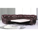 O mecanismo de reclinação sofá de couro seccional moderno 6013c