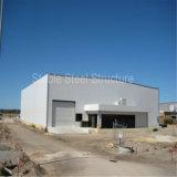 強く軽い鉄骨構造のプレハブの倉庫