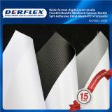 Tela di canapa regolare eccellente della parte posteriore del nero di Frontlit della bandiera della flessione del PVC Blockout