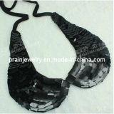 Handmade Rhinestone negro gargantilla de cristal acrílico robusto falso Collar Collar Collar de joyas de moda Accesorios de moda Joyas de la Mujer (Pnc-002).