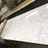 Biancoイタリアの白いカラーラの大理石の平板
