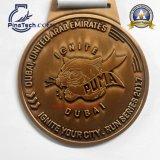 Medalla del baloncesto con el relleno duro del esmalte