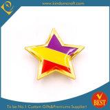 昇進のギフトの星の形のエナメルの金属の金の折りえりPin