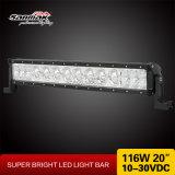 Sola barra ligera del vatio LED de la fila 116 para el carro