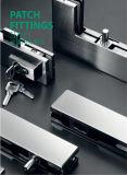 Abrazadera de cristal de la puerta de la aleación del acero inoxidable 304/aluminio de Dimon, corrección que ajusta el vidrio de 8-12m m, guarnición de la corrección para la puerta de cristal (DM-MJ 80S)