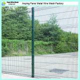 Изогнутая покрынная PVC сваренная загородка ячеистой сети
