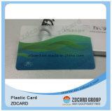Plástico de PVC transparente com cartão de visita RFID com design personalizado