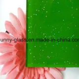 vetro verniciato verde decorativo 6mm di 4mm 5mm
