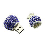 Movimentação de cristal do flash do USB do metal da memória Flash da vara do USB