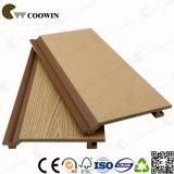 Comitato di parete poco costoso di plastica di legno della facciata