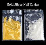 Kunst-Metallkaviar-Raupen Minider raupe-0.8mm 1mm 1.5mm 2mm Goldsilber-Kaviar-runde des Nagel-3D