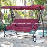 De luxe 3 Stoel/het Bed van de Schommeling van de Tuin van het Terras Seater met 2 Hoofdkussens