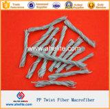 Concrete ad alta resistenza Reinforced pp Twist Fiber 19mm 48mm 54mm