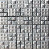 Keramik-Mosaik mit silbrig unebener Anti-Rutsch-Oberfläche