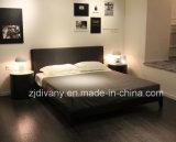 Кровать американской самомоднейшей ткани типа деревянной двойная (A-B37)