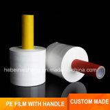Película de estiramento transparente personalizada do PE com o punho de papel do núcleo