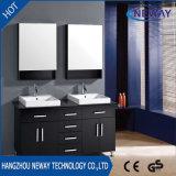 Тщета ванной комнаты двойной раковины нового пола стоящая деревянная коммерчески