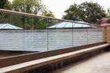 Trilhos do aço inoxidável das balaustradas do Decking & corrimão de vidro (Reino Unido)