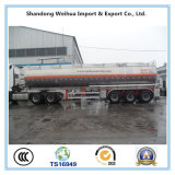 De qualité d'alliage d'aluminium de réservoir de stockage de pétrole remorque semi avec 3 essieux