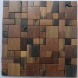 La cocina embaldosa el azulejo de mosaico de madera