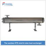 Altamente higiénicas gasoduto da indústria farmacêutica aquecimento e refrigeração do permutador de calor