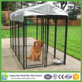 Perrera soldada cubierta del perro de la alta calidad del polvo negro de los nuevos productos 2016