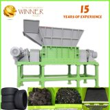 Shredder dobro personalizado do eixo para a estaca e o recicl de borracha Waste