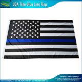 미국 폴리에스테 검정 백색 얇은 블루 라인 경찰은 표시한다 (J-NF05F09328)