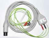 Cavo dei cavi ECG del cavo 3 di OEM/ODM Holter pediatrico