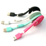 Andriod와 iPhone 자동차를 위한 Colorfull USB 케이블 충전기 그리고 데이터 케이블
