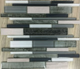 新しい薄板にされた縞の形のガラスモザイク・タイル