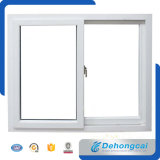 Branco China Standard UPVC / PVC Plastic Frame Double Glass Window