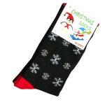 Baumwollweihnachtssocken mit Schnee-Mann-Entwurf