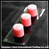 장방형 모양 명확한 유리제 촛대