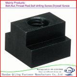 Qualité noire DIN508 T - noix d'acier du carbone d'oxyde de fente