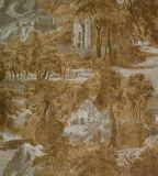 precio de fábrica de papel de pared de vinilo grabado profundo