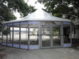 Publicité de plein air tente dôme transparent tente de polygone